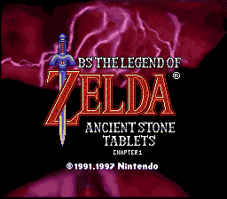BS Zelda - Ancient Stone Tablets (week 1) - Title Screen - User Screenshot